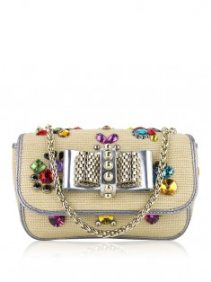Bolsa Christian Louboutin Sweety Charity Natural Rafia