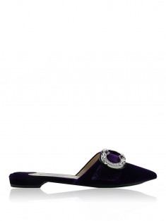Mule Prada Velvet Jeweled