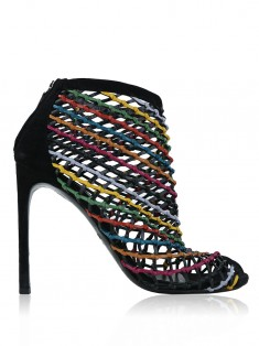 Ankle Boot Gucci Caged Crisscross Booties Colorido