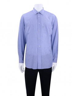 Camisa Façonnable Classique Listras Masculino Branco