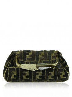 Clutch Fendi Borderline Veludo