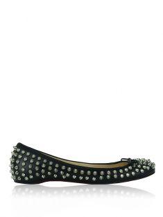 Sapatilha Christian Louboutin Spiked Big Kiss Preto