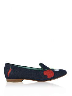 Loafer Blue Bird Patch Jeans