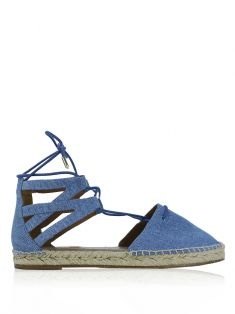Sandália Aquazzura Denim Azul