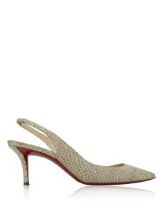 Sapato Christian Louboutin Embossed Apostrophy