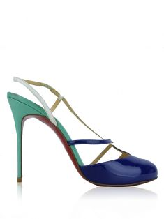 Sapato Christian Louboutin Miss Ronde Tricolor