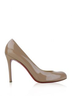 Sapato Christian Louboutin Simple Pump 100 Verniz Nude