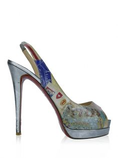 Sapato Christian Louboutin Winter Trash Prata