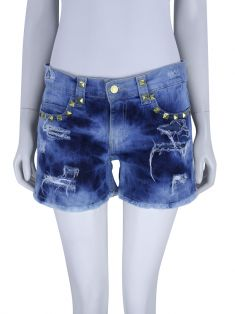 Shorts Daslu Denim Rebites