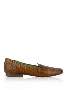 Slipper Blue Bird Croco Marrom