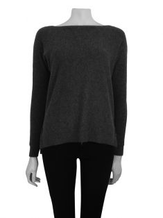 Suéter C By Bloomingdales`s Cashmere Cinza
