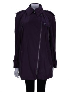 Trench Coat Burberry Brit Nylon Roxo
