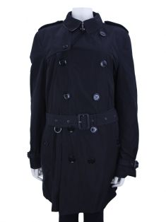 Trench Coat Burberry Brit Tecido Preto