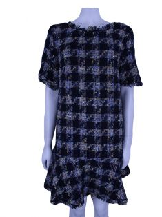 Vestido Animale Tweed Azul