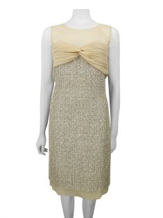 Vestido Chanel Tweed e Seda