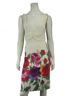 Vestido Red Valentino Floral Off White