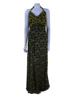 Vestido Versace Collection Estampado Preto e Amarelo